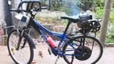 Xe đạp có động cơ máy cắt cỏ độc nhất vô nhị ở miền Tây