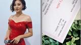 Văn Mai Hương khoe giấy chứng nhận kết hôn