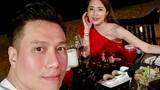 Hậu ly hôn, Việt Anh khoe ảnh ăn tối bên bờ biển cùng Quỳnh Nga