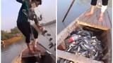 Chàng trai giăng lưới bắt cá và cái kết bất ngờ