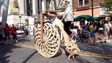 Tận mắt chiếc xe đạp kỳ lạ chưa từng thấy
