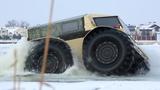 Cận cảnh chiếc xe tải có thể chạy dưới nước của Nga