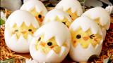 Tuyệt chiêu làm trứng luộc với tạo hình gà con ngộ nghĩnh