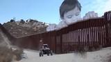 Video: Xem bức tranh khổng lồ ấn tượng ở biên giới Mỹ - Mexico