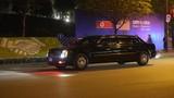 Đoàn xe đón Tổng thống Donald Trump rời khách sạn Marriott đi sân bay Nội Bài