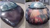 Siêu xe Lamborghini Gallardo đổi màu khi bị dội nước