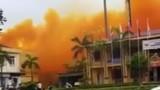 Phát hoảng đám khói vàng nghệ lớn bao phủ một phần KCN Phúc Điền