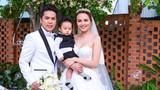 Hoa hậu Diễm Hương khoe con trai trong ngày cưới