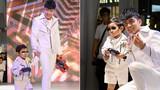 Con trai Đan Trường mặc sành điệu diễn catwalk cùng bố