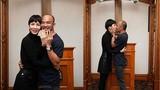 Xuân Lan và chồng liên tục khóa môi sau đăng ký kết hôn ở Mỹ