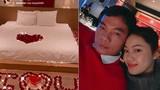 Á hậu Thanh Tú mừng sinh nhật chồng, lãng mạn như đêm tân hôn