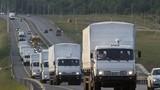 Hình ảnh mới nhất về đoàn xe Nga cử sang cứu trợ Ukraine