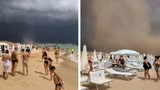 Video: Lốc xoáy lớn xuất hiện trên bãi biển Italy