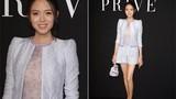 Hoa hậu Trương Tử Lâm thon gọn sau hai tháng sinh con