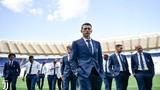 """Các """"nam thần"""" Juventus đầy lịch lãm xuất hiện trên sân Olimpico"""