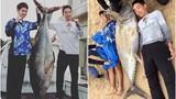 """Nam sinh tay không """"quyết chiến"""" cá ngừ khổng lồ và kết"""
