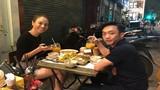 Cường Đô La đưa bạn gái Đàm Thu Trang đi ăn vỉa hè