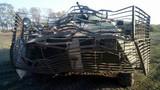 Lồng sắt, bao cát bảo vệ hiệu quả xe thiết giáp Ukraine