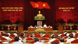 Ảnh: Hội nghị Trung ương 7 thảo luận về đội ngũ cán bộ các cấp