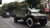 Triển khai xe bọc thép bảo vệ Hội nghị thượng đỉnh Mỹ - Triều