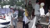 Video: Cô dâu được chú rể bế chạy vào nhà