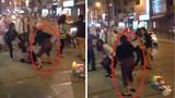 Xôn xao clip đánh ghen hội đồng trên phố Hà Nội