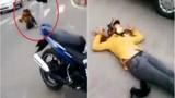 Phẫn nộ cảnh đánh vợ đến ngất xỉu giữa đường TP.HCM