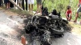 6 kẻ trộm chó bị dân đánh, đốt xe