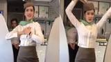 Phát sốt trước nhan sắc của nữ tiếp viên hàng không múa trên máy bay