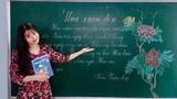 """Cô giáo xứ Huế vẽ tranh trên bảng khiến học sinh """"thèm"""" đến lớp"""