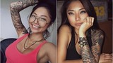 """Soi hình xăm """"chất lừ"""" Cassie Trinh Võ, người mẫu ảnh kiêm tình cũ Binz"""