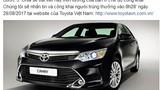 """Hàng chục nghìn người dính """"quả lừa"""" tặng xe Toyota Camry"""