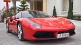 Tuấn Hưng lái siêu xe Ferrari dự đại hội môtô Hải Dương