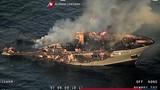 Siêu du thuyền dài 48 mét cháy ngùn ngụt trên biển