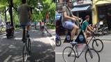 Ông Tây gây sốc với xe đạp cao nhất Việt Nam
