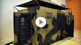 Máy giặt di động như xe tăng của quân đội Nga