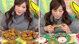 Cô gái Nhật xinh đẹp ăn số đùi gà bằng 12 người cộng lại