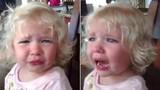 Bé gái khóc nức nở khi biết mẹ sắp sinh em trai