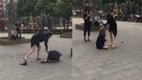 Video: Vợ đánh dã man bồ nhí của chồng giữa phố đông