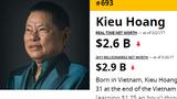 Tỷ phú Hoàng Kiều ra khỏi Top 500 người giàu nhất thế giới
