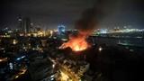 Ảnh: Cháy nổ kinh hoàng tại nhà kho trong cảng Sài Gòn