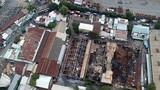 Cảnh tan hoang sau vụ cháy nhà kho ở cảng Sài Gòn