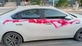 Nhiều ôtô bị xịt sơn khi đỗ trong khu đô thị ở Hà Nội