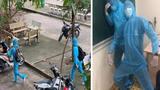 Mặc nguyên đồ bảo hộ đến trường, 2 nam sinh gây xôn xao MXH