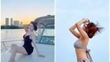 """Hot girl Trâm Anh diện """"2 mảnh"""" lộ vóc dáng siêu chuẩn"""