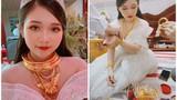 Cô dâu đeo đầy vàng và màn lộ danh tính gây chú ý