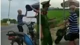 Cầm mũ cối làm loạn chốt kiểm dịch, cụ ông khiến netizen bức xúc