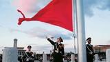 Xem lực lượng tiêu binh thực hiện nghi lễ thượng cờ