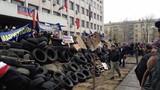Người biểu tình chiếm trụ sở thành phố Mariupol-Ukraine