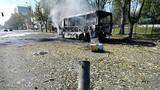 Trung tâm Donetsk bị pháo kích lần đầu sau lệnh ngừng bắn